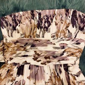 BCBG MAXAZRIA Floral Tube Dress